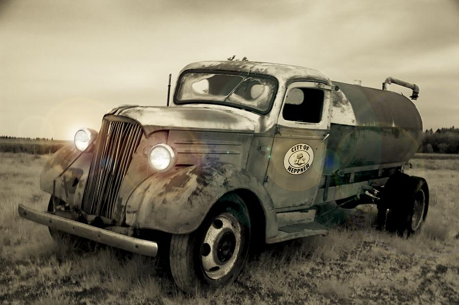 Old Water Truck Photograph
