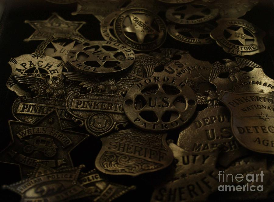 Old Photograph - Old West Badges by Sherry Vance