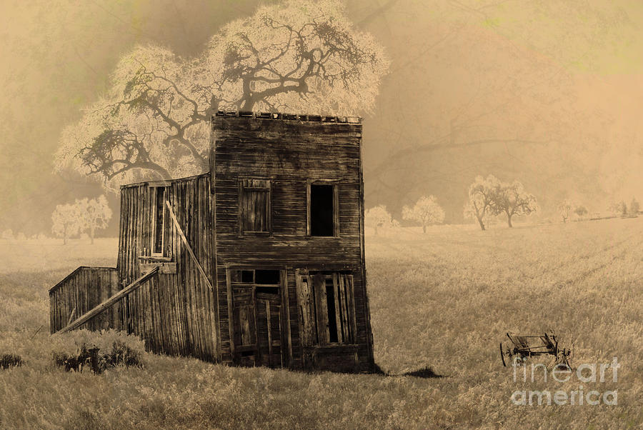 Landscape Photograph - Old West Building by Ron Hoggard