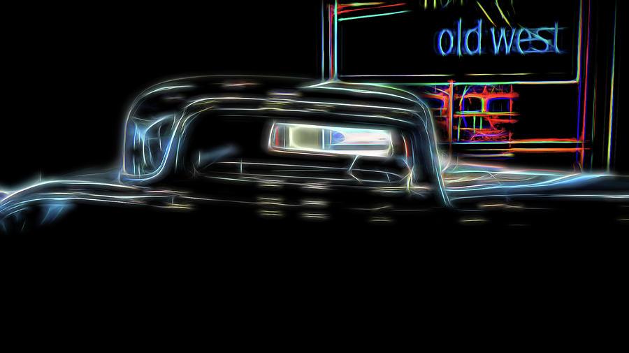 Auto Digital Art - Old West by Elijah Knight