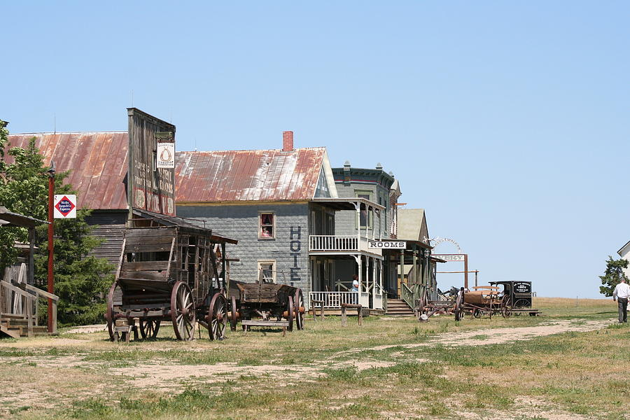 Town Photograph - Old West by Gregory Jeffries