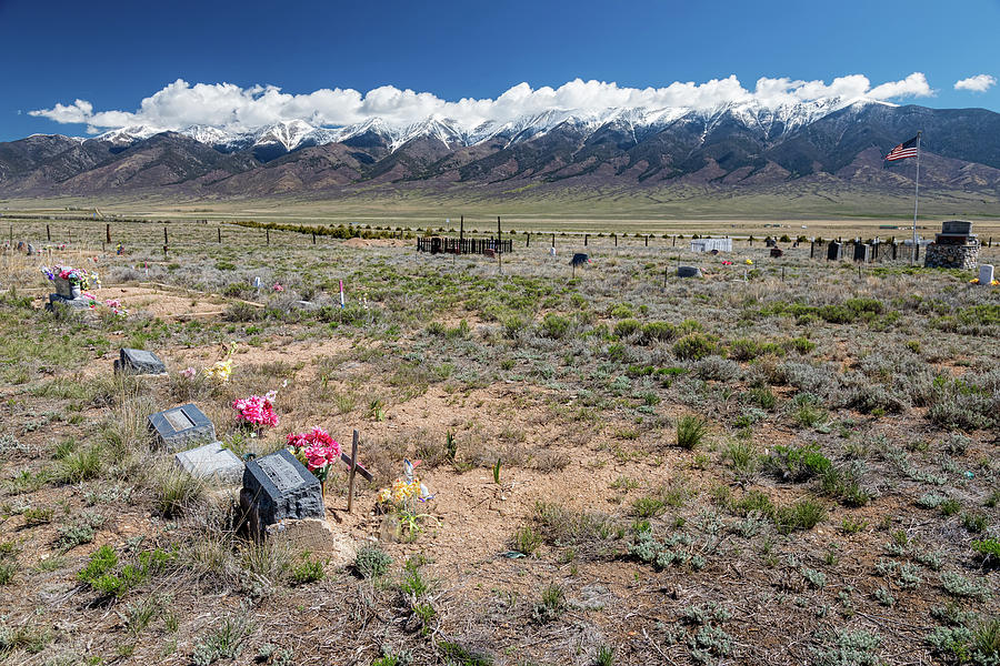 Old West Rocky Mountain Cemetery View Photograph