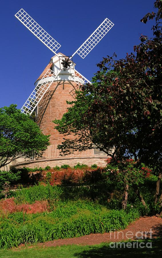 Old Photograph - Old Windmill by Kathleen Struckle