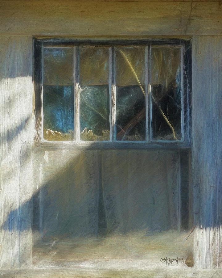 Old Window - Fading Memories by Rebecca Korpita