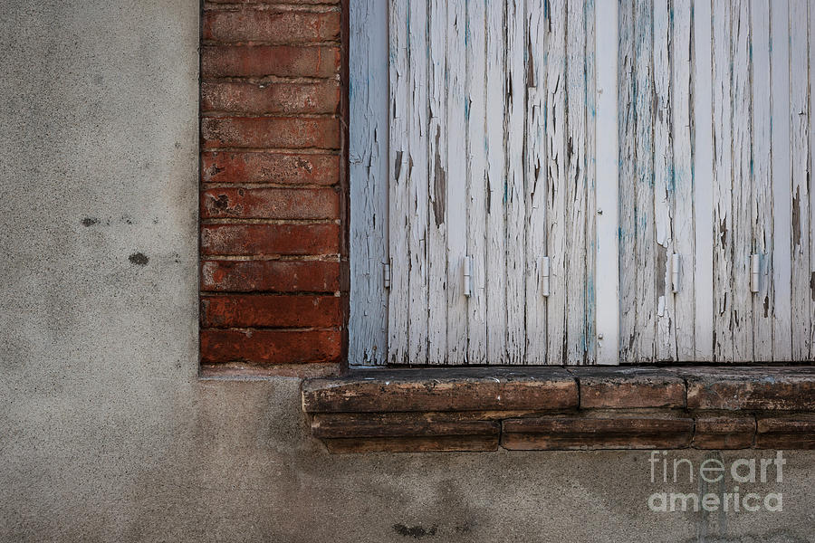 Window Photograph - Old Window With Closed Shutters by Elena Elisseeva