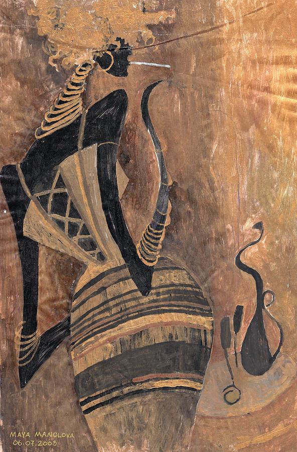 Wine Painting - Old Wine by Maya Manolova