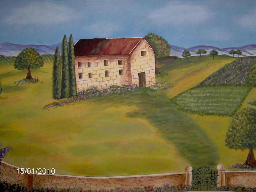 Old Winery Painting by Carol Wenker