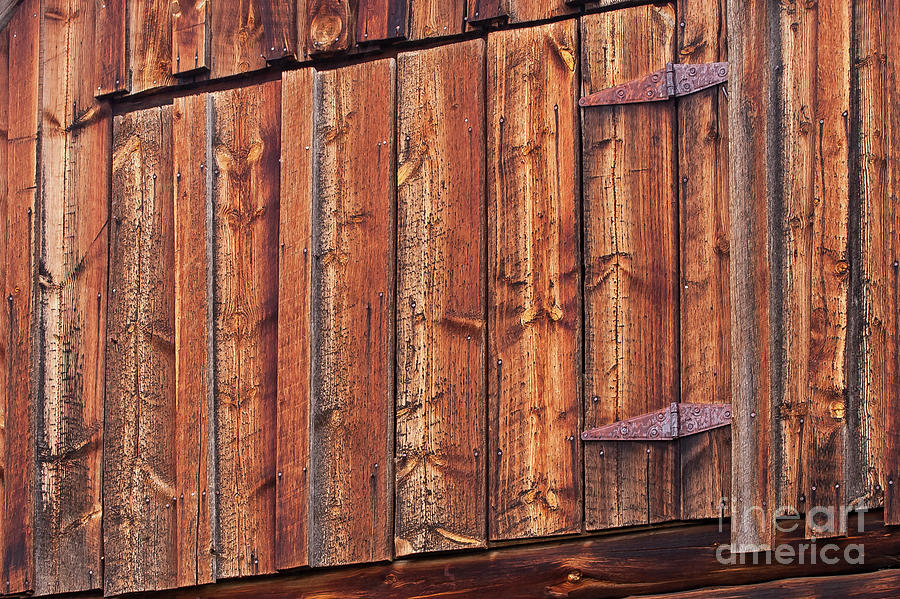 Old Wood Mormon Barn Loft Door Two Photograph By Bob Phillips