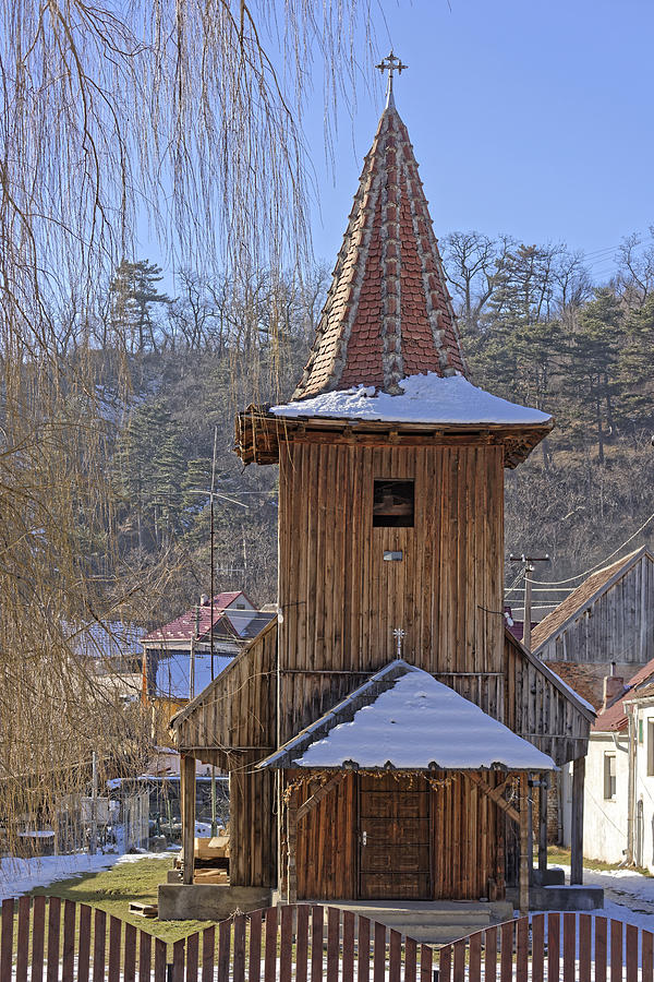Ancient Photograph - Old wooden church from Sadu Sibiu county Romania by Adrian Bud