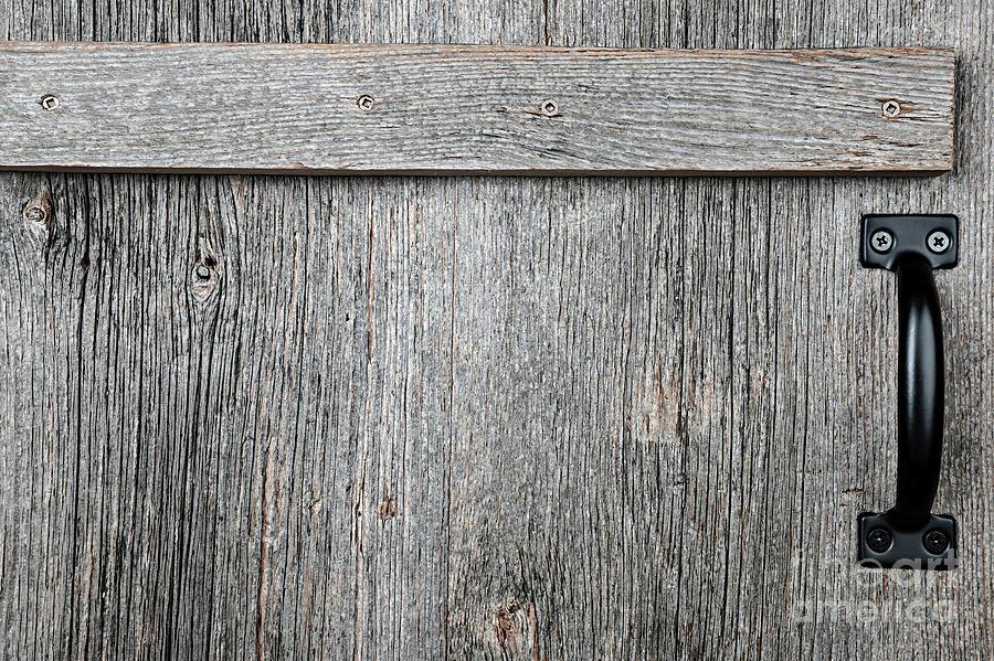 Wood Photograph - Old Wooden Door Detail by Elena Elisseeva