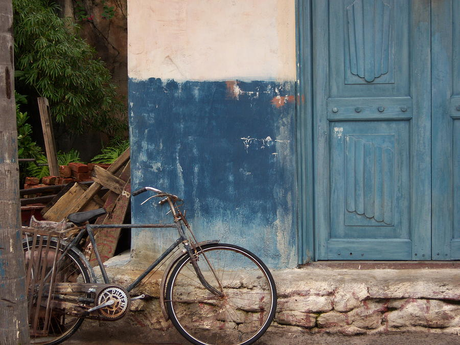Bicycle Photograph - Old World Charm by Kathryn Blackman