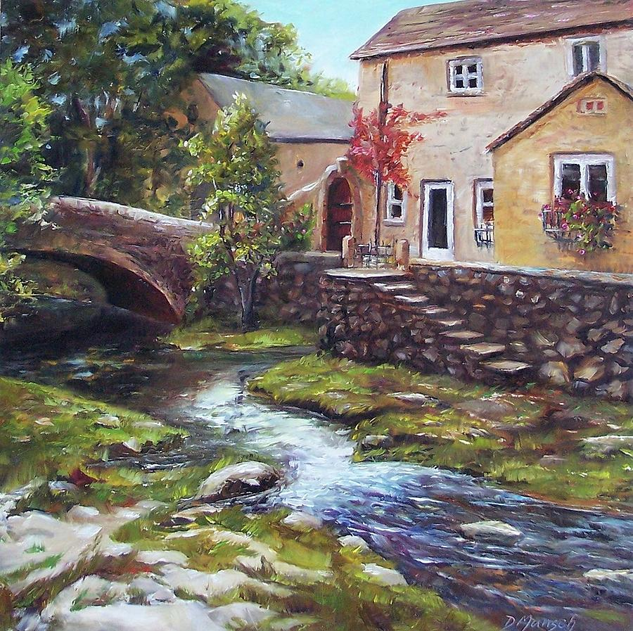 Oil Painting Painting - Old World Cottage by Donna Munsch