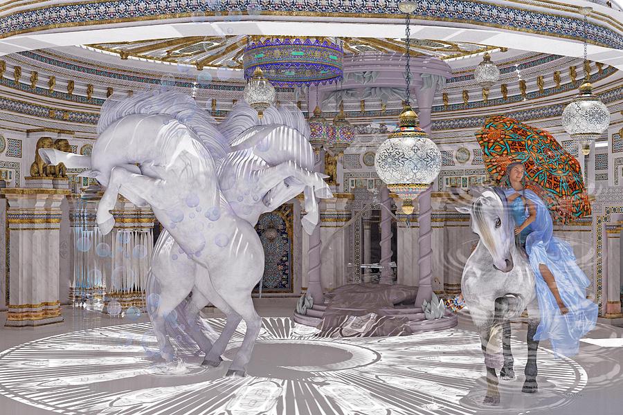 Horse Digital Art - Old World Lipizzaners  by Betsy Knapp