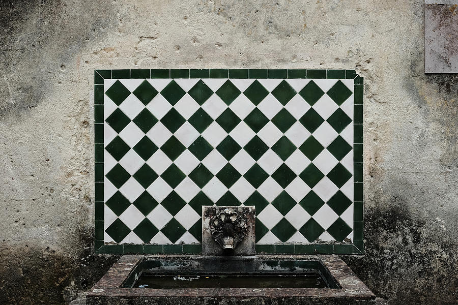 Old World Water Fountain Photograph