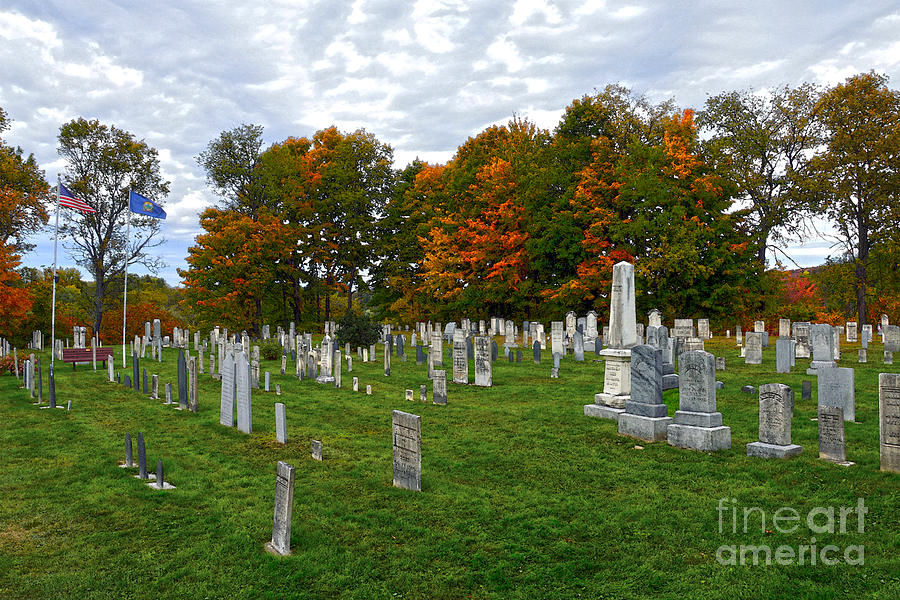 Cemetery Photograph - Old Yard Cemetery Stowe Vermont by Catherine Sherman
