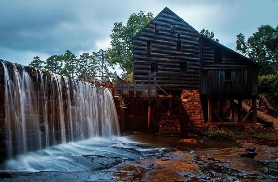 Landscape Photography Print Waterfalls Wall Art, Yates Mill North Carolina Mill