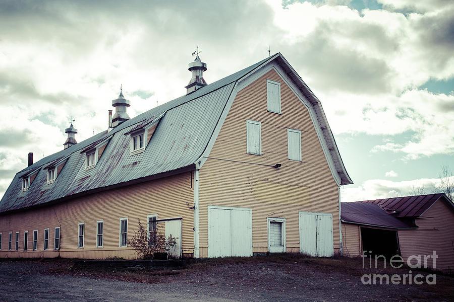 Old Yellow Dairy Barn Hardwick Vermont by Edward Fielding