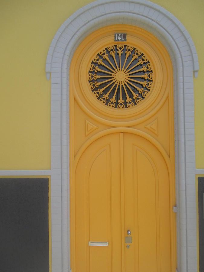 Door Photograph - Old Yellow Door by Anamarija Marinovic