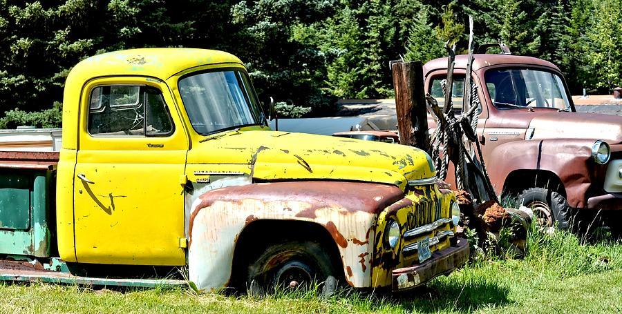 Old Yellow Farm Truck Photograph