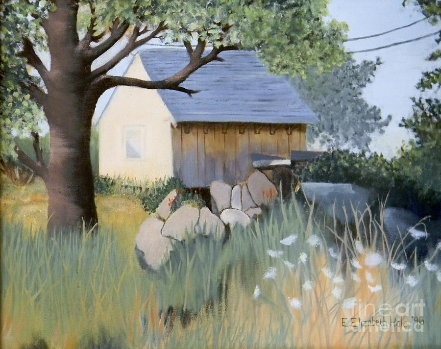Building Painting - Old Yellow Shed by Emily Michaud