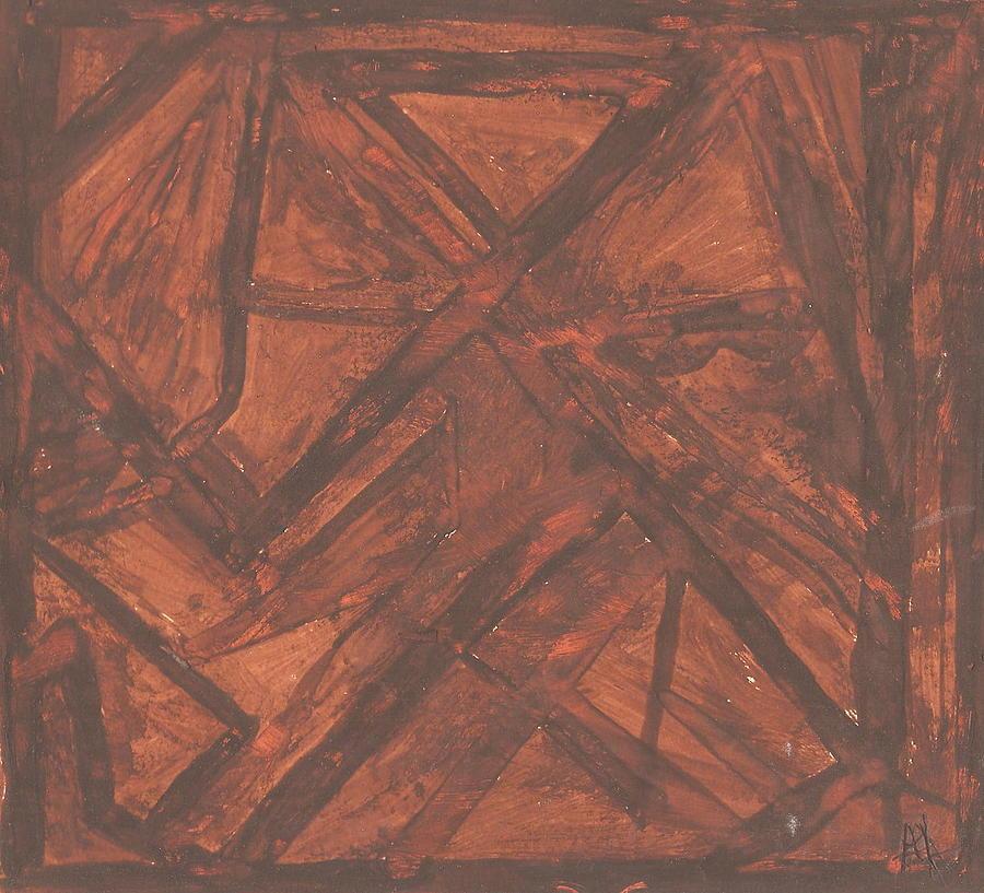 Abstract Painting - Oldbarn by Ana Aguiar