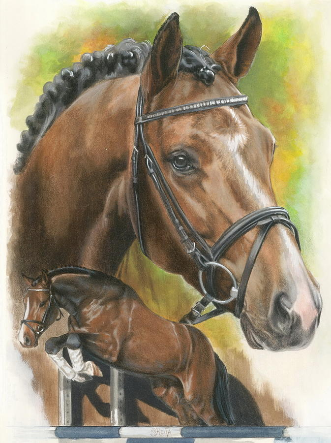 Hunter Jumper Mixed Media - Oldenberg by Barbara Keith