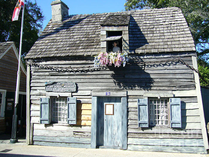 Building Photograph - Oldest School House In Usa by Barbara Oberholtzer