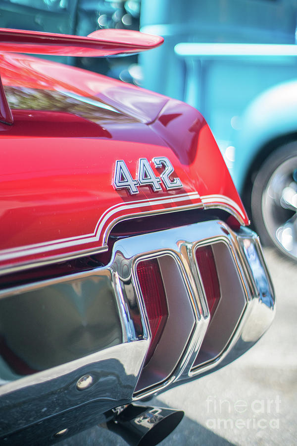 Chevy Photograph - Olds 442 Classic Car by Mike Reid