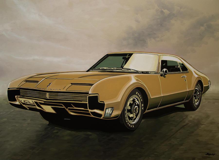 Oldsmobile Toronado Painting - Oldsmobile Toronado 1965 Painting by Paul Meijering