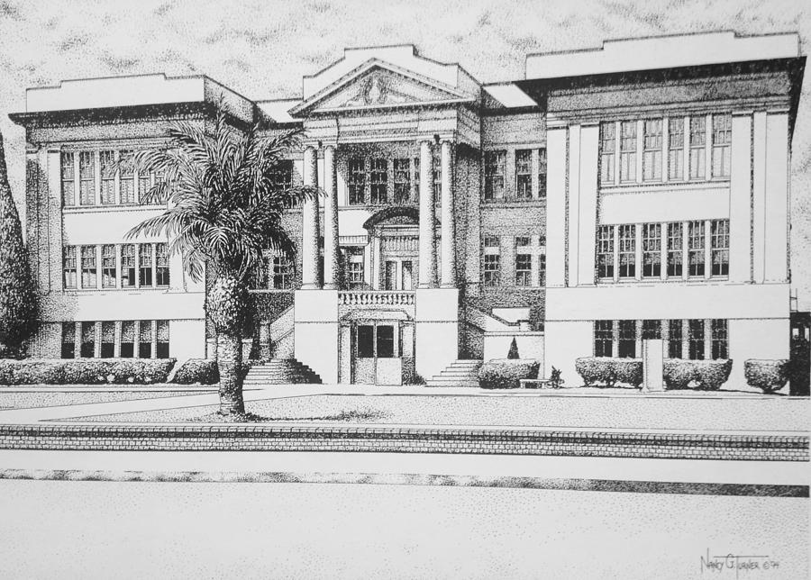 Ole Biloxi High School Painting By Nancy M Garrett