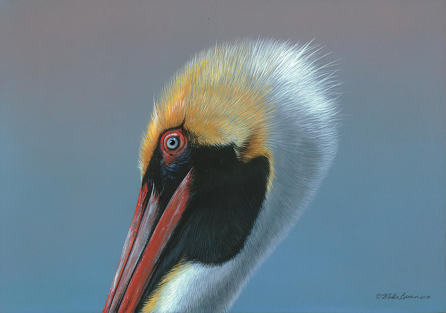 Florida Painting - Ole Blue Eyes by Mike Brown