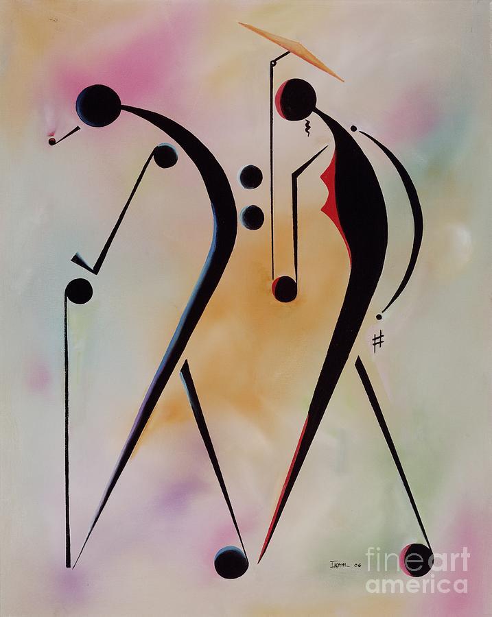 Elderly Painting - Ole Folks by Ikahl Beckford