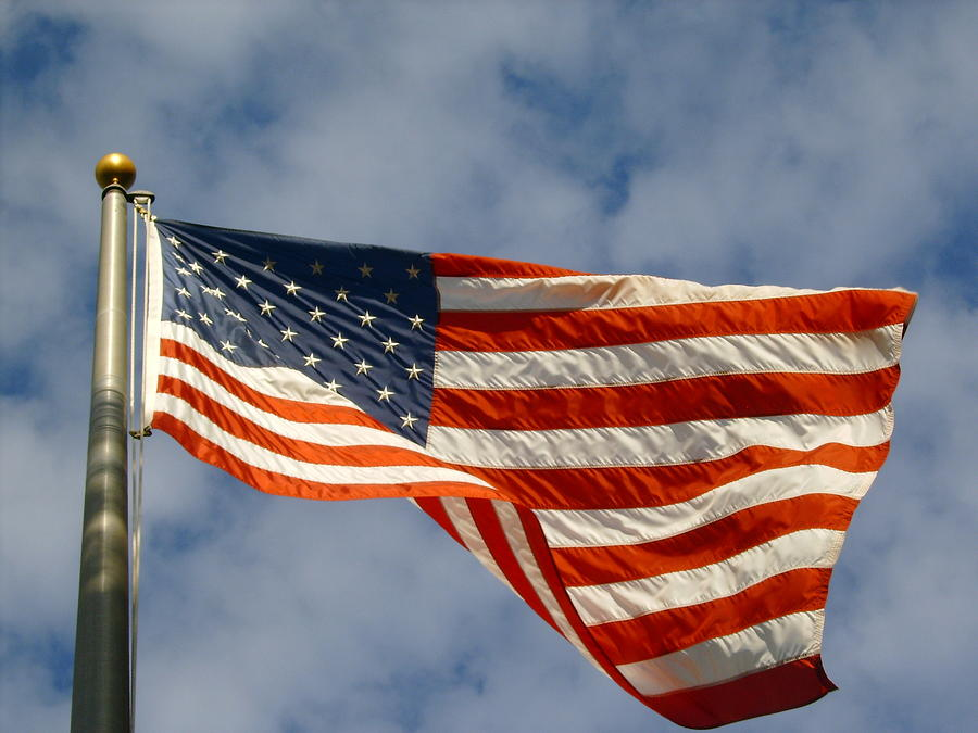 Patriotism Photograph - Ole Glorious Sky by Larry Underwood