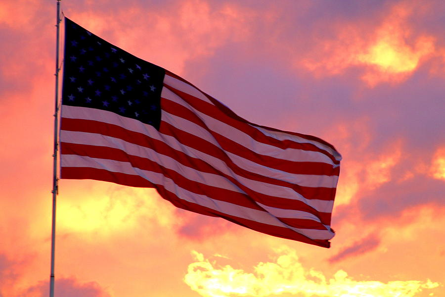 Flag Photograph - Ole Glory by Jazz Bishop
