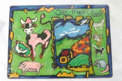 Ole Mel Mcdonalds Farm Mixed Media by Paulettea