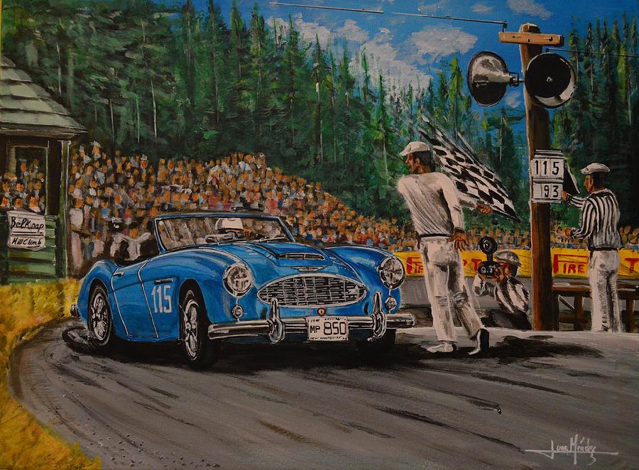 Motorsport Painting - Ole Patsy by Juan Mendez