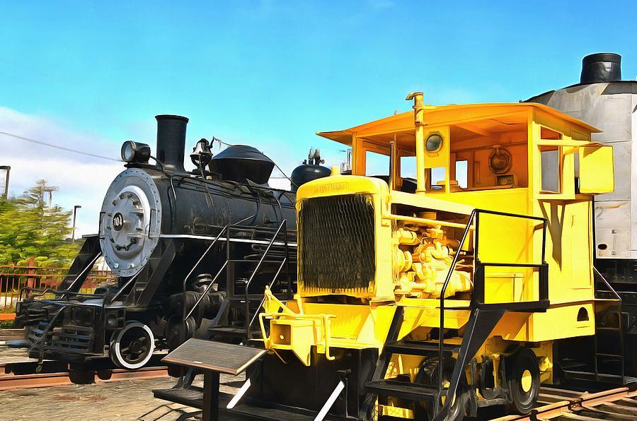 Ole Yeller Locomotive Coos Bay Oregon Painting Photograph