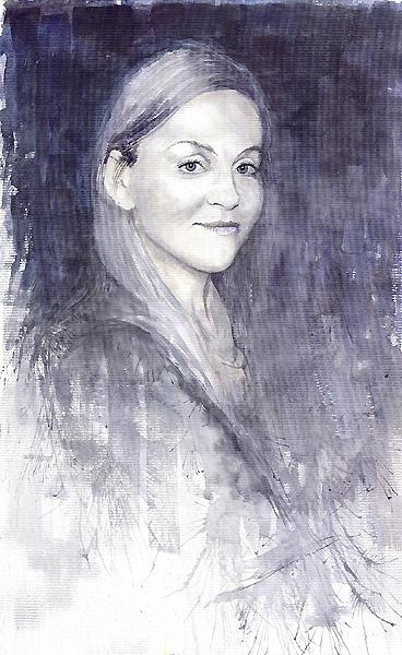Watercolour On Paper Painting - Olga by Yuriy  Shevchuk
