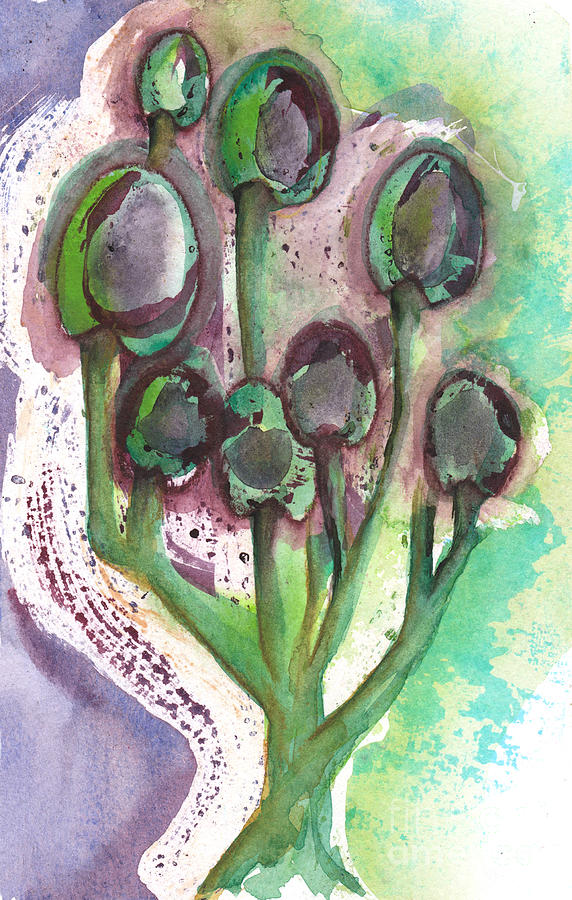 Olives Mixed Media - Olive Branches by Paulette Boudreau