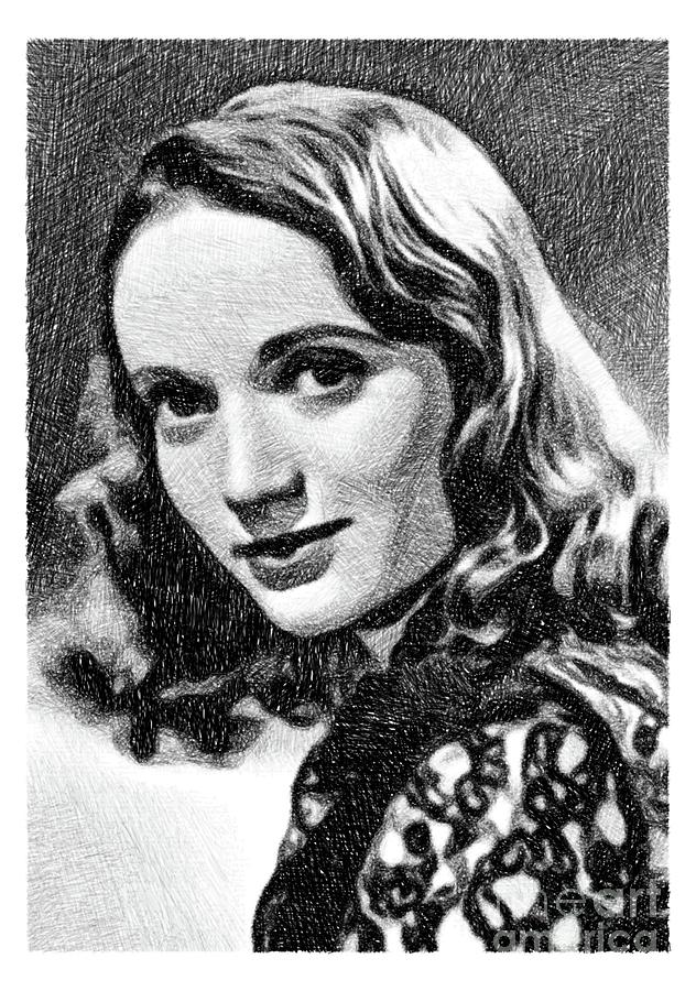 Olive Deering, Vintage Actress By Js Drawing