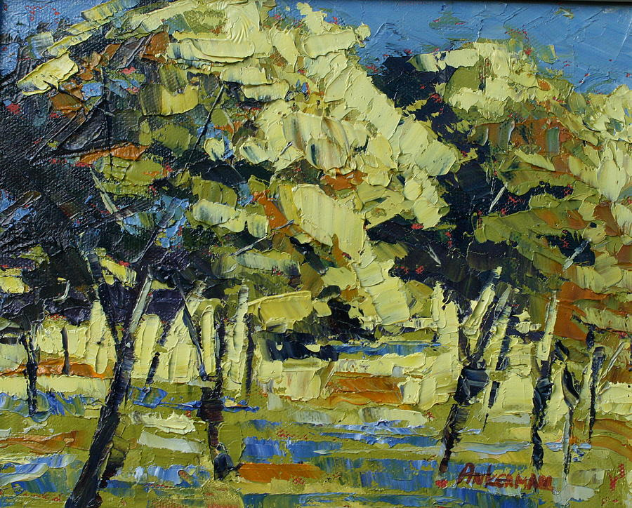 Landscape Painting - Olive Grove by Yvonne Ankerman