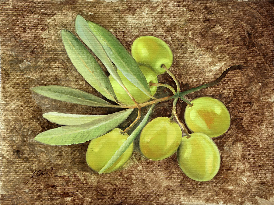 Olive Oil Painting - Olive by Guido Borelli