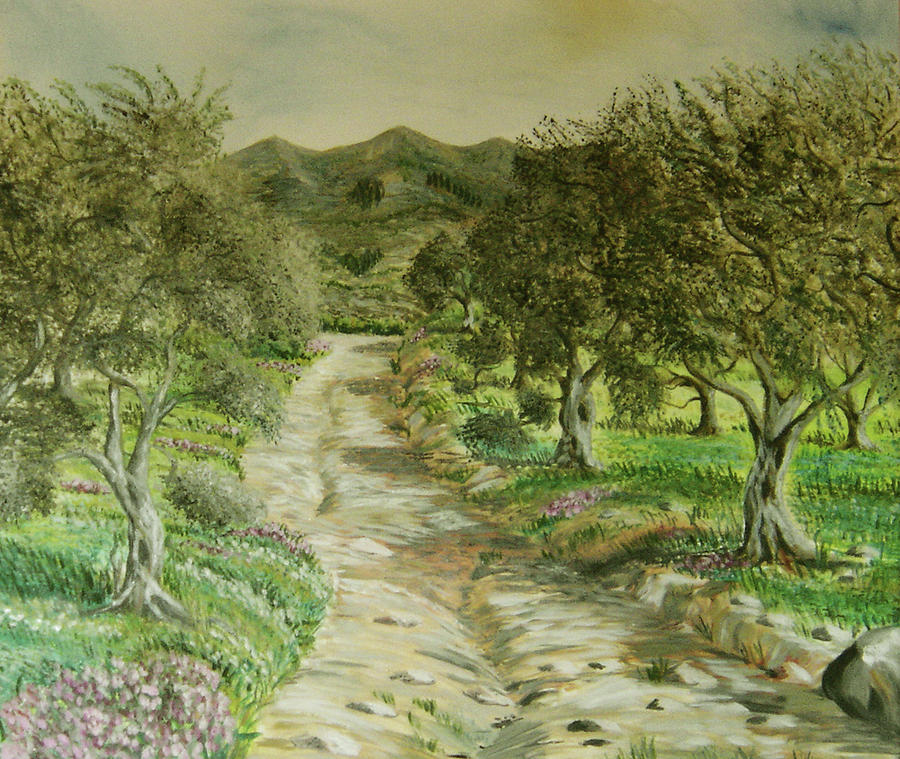Olive Painting - Olive Trees At Kakakidi Nr 3  by Anna Witkowska