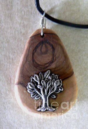 Olive Wood Jewelry - Olive Wood Necklace by Eric Kempson