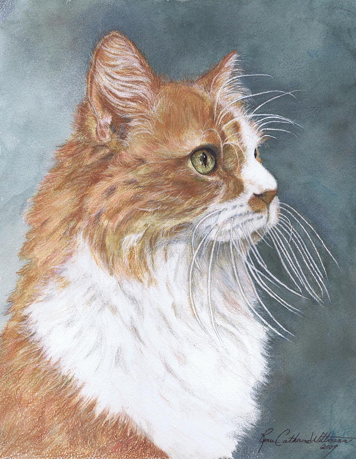 Animal Paintings Painting - Oliver by Renee Catherine Wittmann