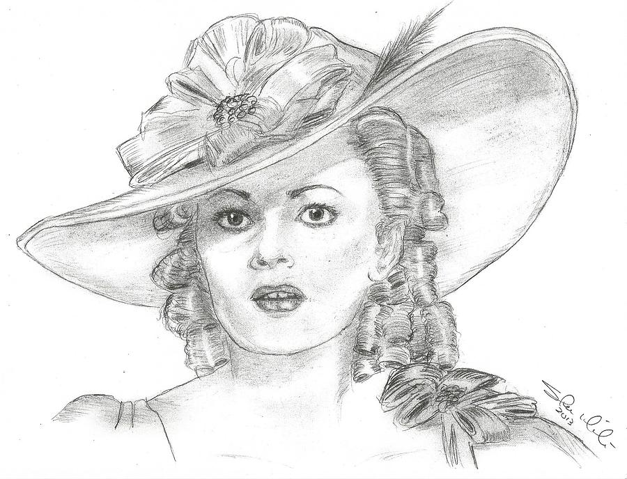 Olivia De Havilland Drawing - Olivia De Havilland by Steven White
