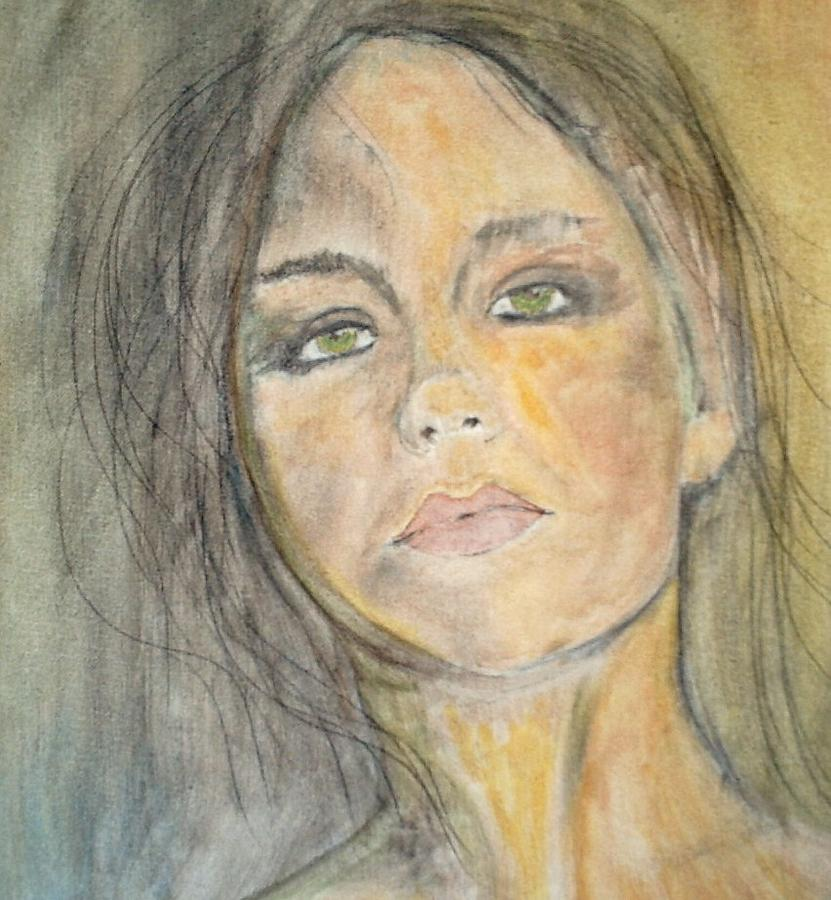 Portrait Painting - Olivia by J Bauer