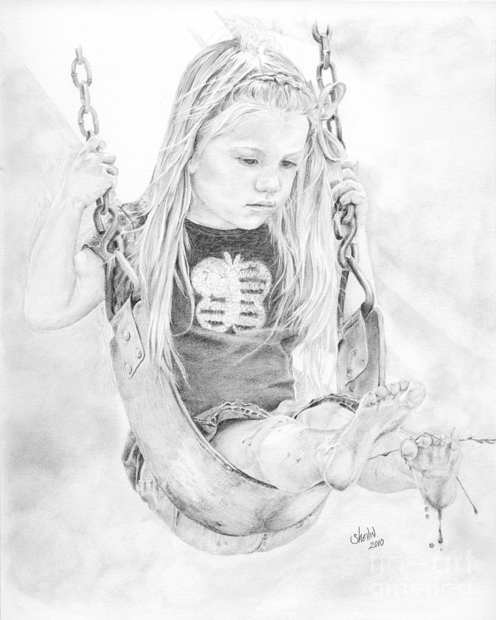 Portrait Drawing - Olivia by Shevin Childers
