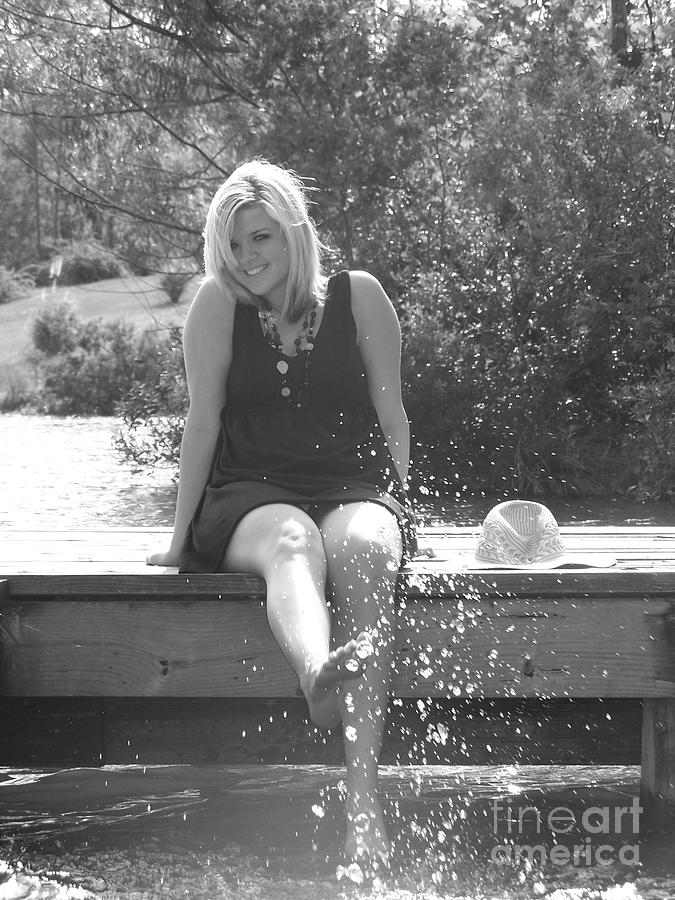 Water Photograph - Olivia Spiers Senior Picture 2 by Amanda  Sanford