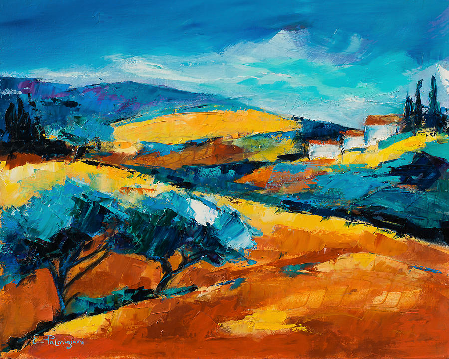 Landscape Painting - Oliviers En Provence by Elise Palmigiani